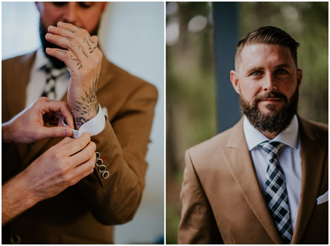 Blue Mountains Wedding Yester Grange groom portrait