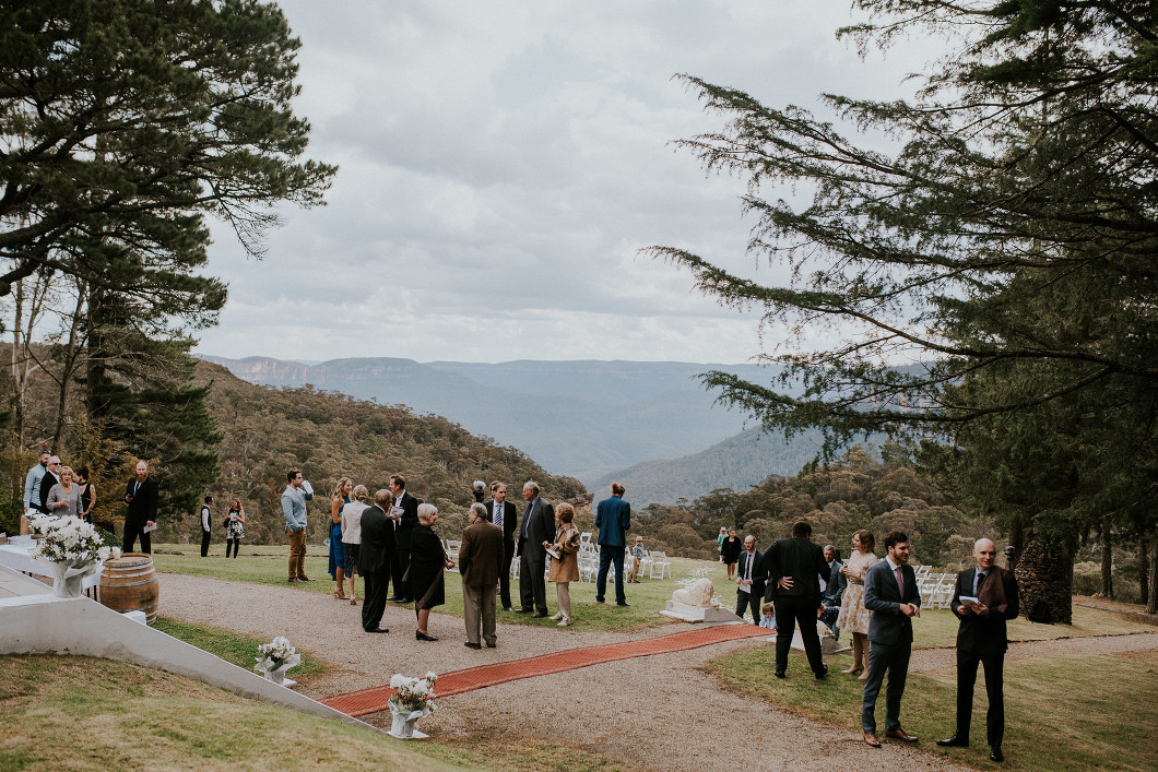 Blue Mountains Wedding Yester Grange view