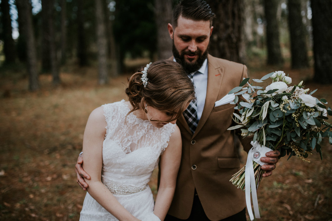 Married in the woods